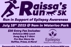 2015: Raissa's Run 5K - Postcard Ad