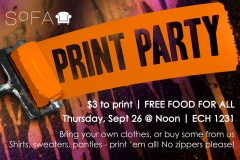 2014: Print Party Poster
